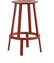 Tabouret bas REVOLVER de Hay, H.65 cm, Rouge