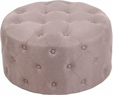 Tabouret bas Style Chesterfield Korsika taupe Tissu