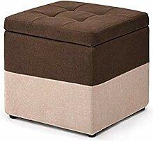 Tabouret Boîte De Rangement Cube Tabouret Bas