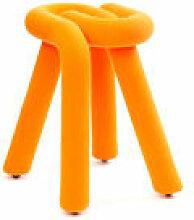 Tabouret Bold / Rembourré - Moustache orange en