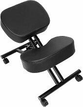 Tabouret, chaise ergonomique, siège assis genoux