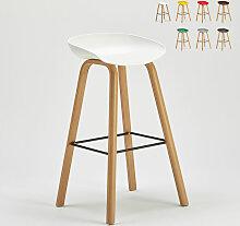 Tabouret chaise haut pour café et cuisine effet