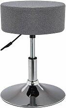 Tabouret chaise hauteur réglable en tissu gris -