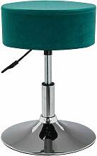 Tabouret chaise hauteur réglable en tissu velours