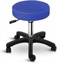 Tabouret chaise siège de bureau à roulette bleu