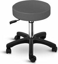 Tabouret chaise siège de bureau à roulette gris