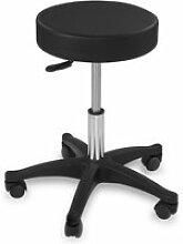 Tabouret chaise siège de bureau à roulette noir