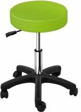 Tabouret chaise siège de bureau à roulette vert