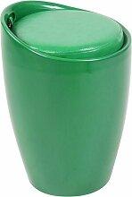 Tabouret Coffre Annecy en Similicuir vert