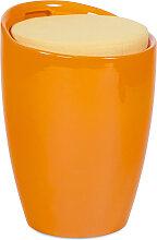 Tabouret coffre d'appoint 'GUM' orange