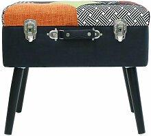 Tabouret & Coffre Design valise 50cm Patchwork -