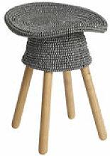 Tabouret Coiled / H 54 cm - Bois & assise rotin -