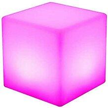 Tabouret cube lumineux 16 couleurs changeantes RVB