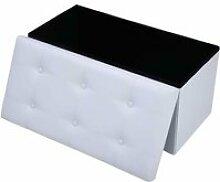 Tabouret cube pouf pliable banc coffre rangement