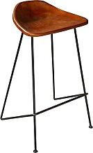 Tabouret de bar assise en cuir Atelier