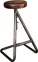 Tabouret de bar assise en cuir avec vis Atelier