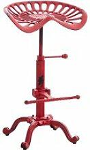 Tabouret de bar butch au style industriel , rouge