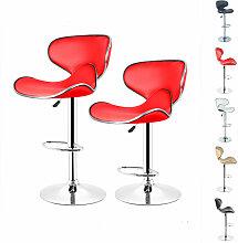 Tabouret de Bar, Chaise de Bar, Lot de 2, Design