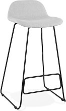 Tabouret de bar design 'MOSKOW' gris clair