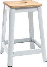 Tabouret de bar design blanc 65 cm NICK