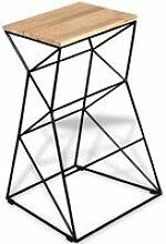Tabouret de bar design chaise siège bois de