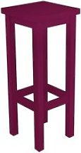 Tabouret de bar droit bois made in france  prune