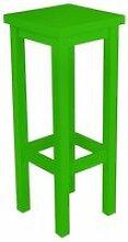 Tabouret de bar droit bois made in france  vert