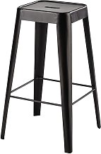Tabouret de bar en métal noir