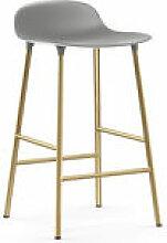 Tabouret de bar Form / H 65 cm - Pied laiton -