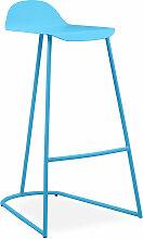 Tabouret de bar Gaynor en métal Bleu pastel