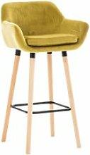 Tabouret de bar grant en velours , jaune
