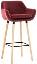 Tabouret de bar grant en velours , rouge