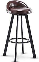Tabouret de bar pivotant en fer avec dossier