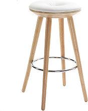 Tabouret de bar scandinave blanc et bois clair 65