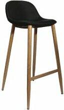 Tabouret de bar scandinave tobias - h. 92 cm - noir