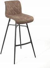 Tabouret de bar Scott pieds métal/tissu cuivre
