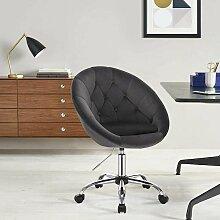 tabouret de bureau avec tapissé de velours Timo