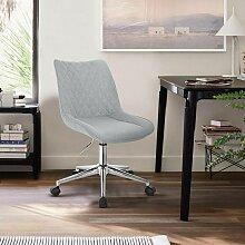 tabouret de bureau sans modèle de lin gris clair