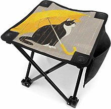 Tabouret de camping Cat with Yellow Umbrella Small