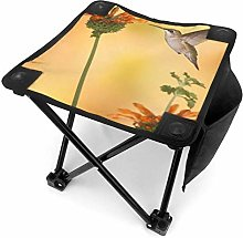 Tabouret de camping Hummingbird with Two Flowers