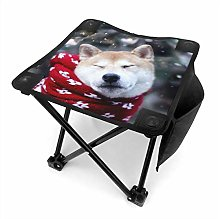 Tabouret de camping Shiba Inu with Red Scarf Small
