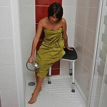 Tabouret de douche pour angle avec assise