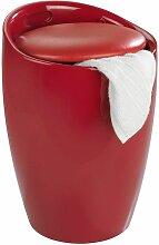 Tabouret de douche rouge - Wenko - Panier à linge