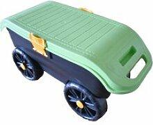 Tabouret de jardin sur roues seat n roll