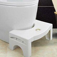 Tabouret de toilette pliable en plastique, forte