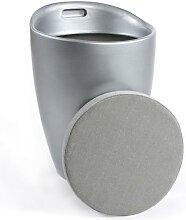 Tabouret design en ABS avec coffre 5 couleurs BLOOM