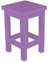 Tabouret droit bois made in France Lilas