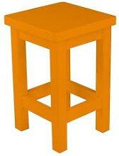 Tabouret droit bois made in France Orange