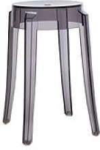 Tabouret empilable Charles Ghost H 46 cm /