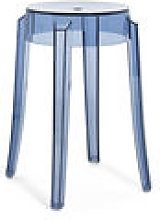 Tabouret empilable Charles Ghost / H 46 cm -